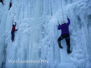 sandstone mn ice climbers