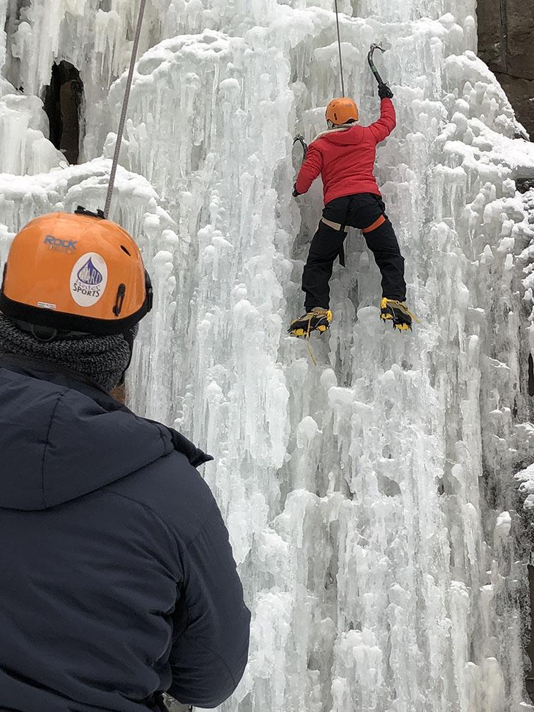 Minnesota ice climbing class